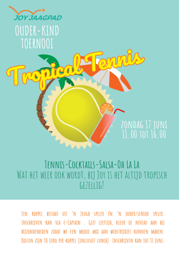 Ouder-Kind-tropical tennis-toernooi
